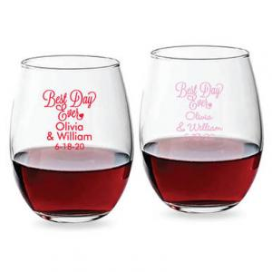 Best Day Ever Cursive 15 oz Stemless Wine Glass image
