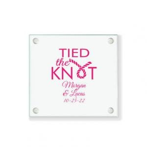 Tied the Knot Personalized Coaster image