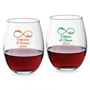 Endless Love Infinity 15 oz Stemless Wine Glass image