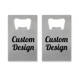 Custom Design Personalized Credit Card Bottle Opener image