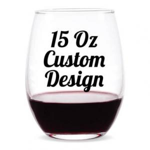 Custom Design Personalized 15 oz Stemless Wine Glass image