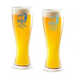 About To Pop Personalized Pilsner Beer Glass image