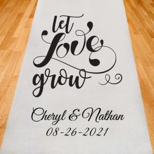 Let Love Grow Personalized Aisle Runner image
