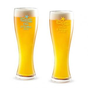 You Me & the Sea Personalized Pilsner Beer Glass image