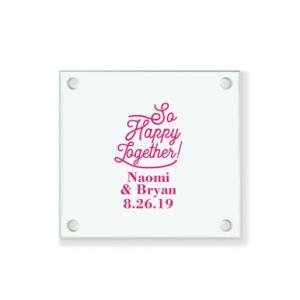 So Happy Together Personalized Coaster image