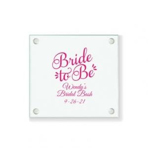 Bride To Be Personalized Coaster image