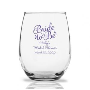 Bride To Be 9 oz Stemless Wine Glass image