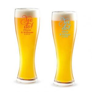 We Do Personalized Pilsner Beer Glass image