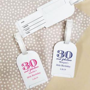 30 and Fabulous Personalized Luggage Tag image