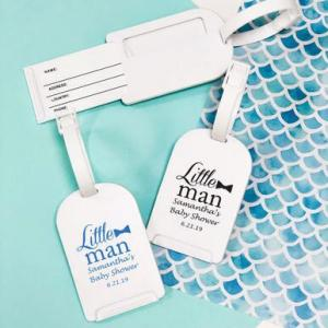 Little Man Personalized Luggage Tag image