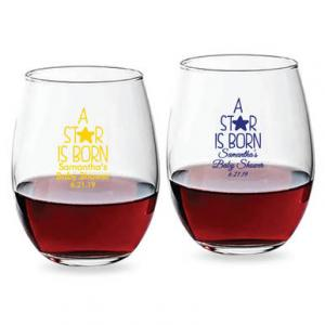 A Star Is Born Personalized 15 oz Stemless Wine Glass image