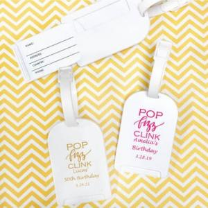 Pop Fizz Clink Personalized Luggage Tag image