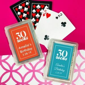 Thirty Rocks Playing Cards with Personalized Stickers image