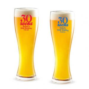 Thirty Rocks Personalized Pilsner Beer Glass image