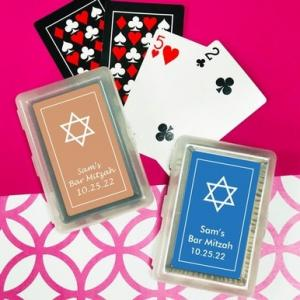 Star Of David Playing Cards with Personalized Stickers image
