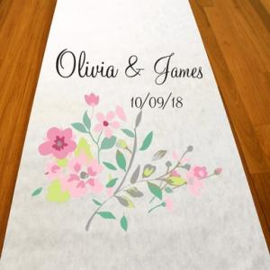 Personalized Love Blooms Aisle Runner image