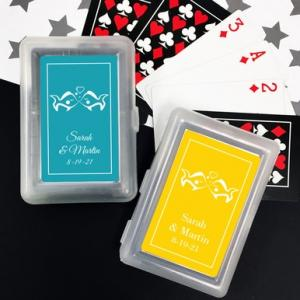 Kissing Fishes Playing Cards with Personalized Stickers image