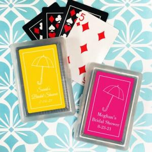 Umbrella Playing Cards with Personalized Stickers image
