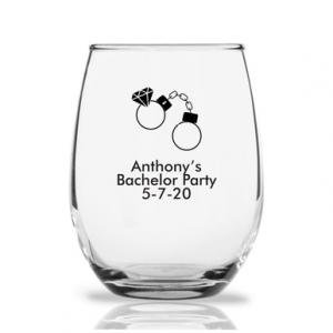 Handcuff Personalized 9 oz Stemless Wine Glass image