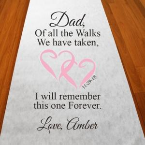 Personalized Walk With Dad Aisle Runner image