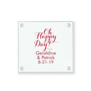 Oh Happy Day Personalized Coaster image