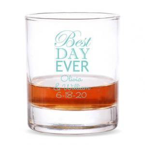 Best Day Ever Personalized 9 oz Rocks Glass image