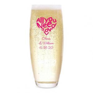 All You Need is Love Personalized Stemless Champagne Flute image