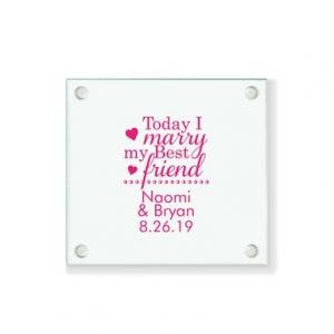 Today I Marry My Best Friend Personalized Coaster image