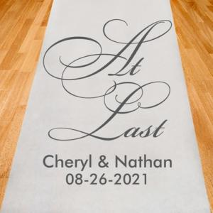 At Last Personalized Aisle Runner image