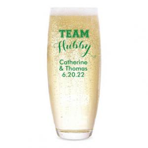 Team Hubby Personalized Stemless Champagne Flute image