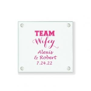 Team Wifey Personalized Coaster image