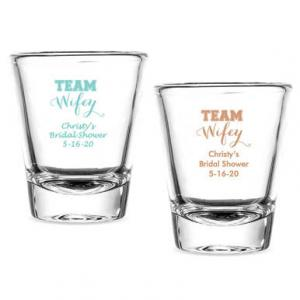 Team Wifey Personalized Fluted Shot Glasses image