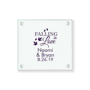 Falling In Love Personalized Coaster image
