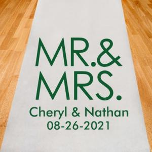 Mr and Mrs Block Personalized Aisle Runner image