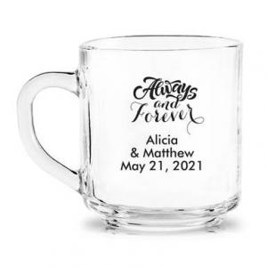 Always & Forever Personalized Glass Coffee Mug image