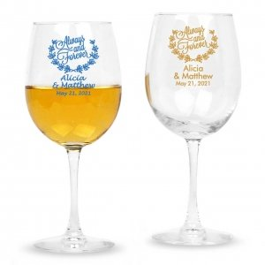 Always and Forever Personalized 12 oz Wine Glass-CM image