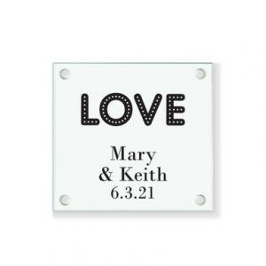 Love Lights Personalized Coaster image