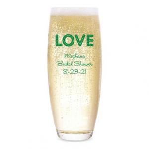 Love Lights Personalized Stemless Champagne Flute image