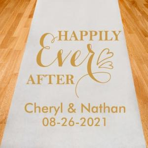 Happily Ever After Personalized Aisle Runner image