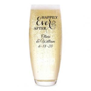 Happily Ever After Personalized Stemless Champagne Flute image