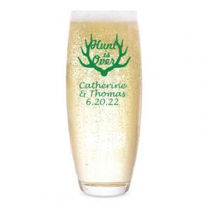 Hunt is Over Personalized Stemless Champagne Flute image