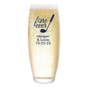 Fore Ever Personalized Stemless Champagne Flute image