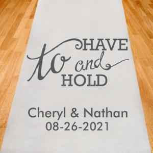 To Have and To Hold Personalized Aisle Runner image