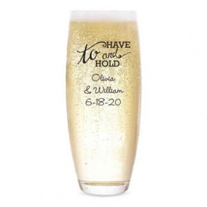 To Have & To Hold Personalized Stemless Champagne Flute image