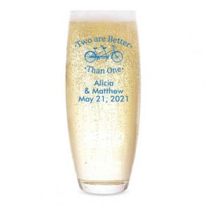 Two Are Better Than One Personalized Stemless Champagne Flut image