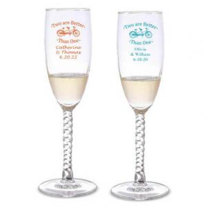 Two Are Better Than One Personalized Twisted Champagne Flute image
