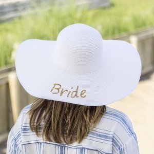 Gold Sequin Bride Sun Hat image