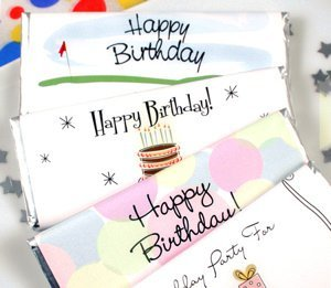 Personalized Birthday Chocolate Bars (50 Designs) image
