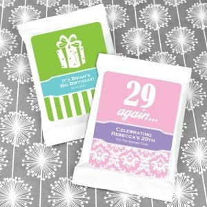 Personalized Birthday Coffee Favors - White (Many Designs) image