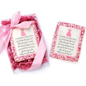 Wedding Party Proposal Edible Cookie Card Dress Edition image